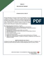 Tema 6 Relacion Laboral  derecho del trabajo I