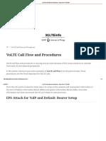 VoLTE Call Flow and Procedures - Voice Over IP Tutorial