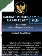 HAKIKAT PENDIDIKAN & DASAR PEMIKIRAN new.pptx
