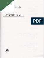 Mastile Fricii - Camelia Cavadia