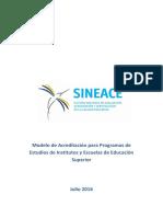 Modelo de Acreditación Para Programas de Estudios de Los Institutos y Escuelas de Educación Superior MINEDU