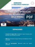 Tendencias en La Optimizacion Del Recurso Agua en La Mineria