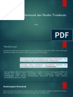 Kontrasepsi Hormonal Dan Resiko Trombosis
