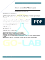 Conservation of Momentum LESSON PLAN
