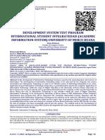 DEVELOPMENT SYSTEM TEST PROGRAM INTERNATIONAL STUDENT INTEGRATEDAIS (ACADEMIC INFORMATION SYSTEM) UNIVERSITY OF MERCU BUANA