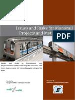 Report on Metro vs Monorail