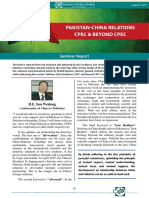 Pak-China Relations CPEC and Beyond (Seminar Report by IPS)