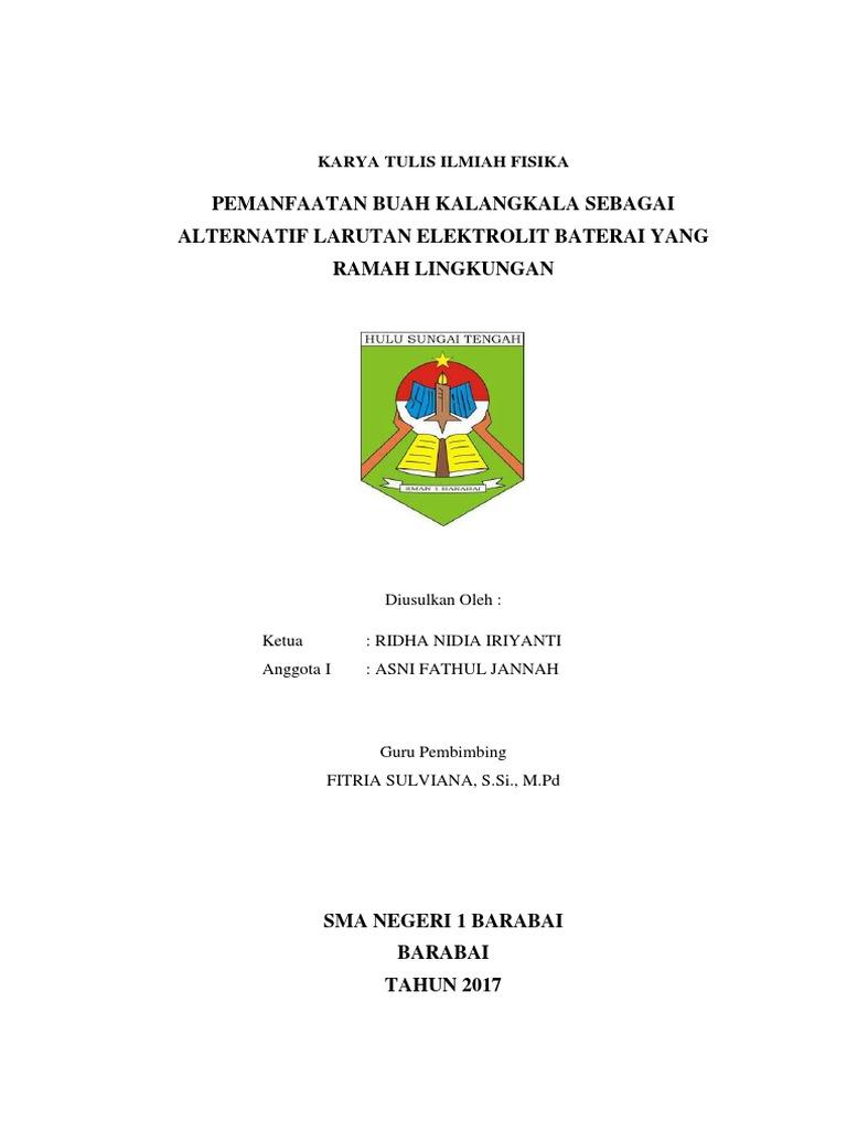 Karya Tulis Ilmiah Fisika Docx