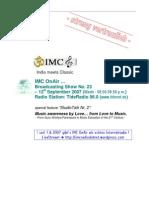 IMC OnAir RSS Feed Moderation Script StudioTalk Nr. 2 12092007