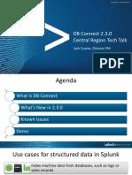 DBX 2.3.0 Central Region Tech Talk Aug 18 2016