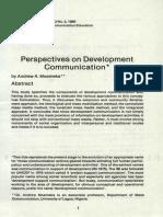 Dev Comm & Extension Approach