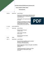 HPPN 2017 Programme