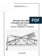 Apostila mecanica dos sólidos mecanica das estruturas ARQ V2010
