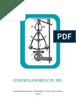 Controladores P,PI,PID.