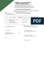 Surat Pengantar Pengiriman Sampel