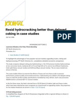 Resid Hydrocracking Better Than Delayed Coking in Case Studies - Oil & Gas Journal