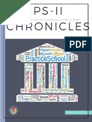 PS - II Chronicles II Sem 2015-16 | Bangalore | Mentorship
