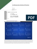 Buat Kalender Menggunakan Scripting Di Photoshop