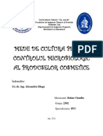 Medii de Cultura Pentru Controlul Microbiologic Al Produselor Cosmetice