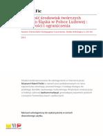 Aktywność Środowisk Twórczych Górnego Śląska w Polsce Ludowej.r2011-t6-s156-169