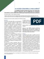 Munive Et Al Como Realizar Una Revision Sistematica y Metaanalis