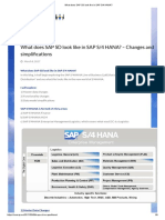 What Does SAP SD Look Like in SAP S_4 HANA