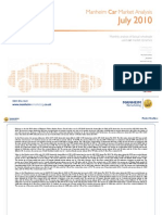 Manheim Market Analysis for Cars July 2010