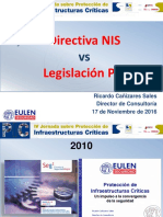 IV Jornada Sobre Protección de Infraestructuras Criticas - EULEN Seguridad – Directiva NIS vs Legislación PIC - Noviembre 2016