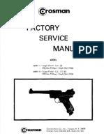 Crosman Mark I and 2 Factory Service Manual Year 1966