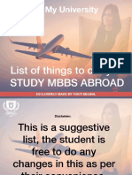 List of Things to Carry When Studying Mbbs Abroad by Yukti Belwal