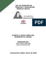 Plan de Emergencias Planta Gayco Guarinocito