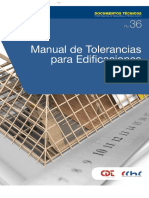 Manual de Tolerancias Para Edificaciones
