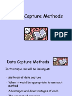 2-1 Data Capture Methods