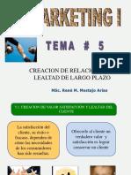 TEMA # 5 - Creación de Relaciones de Laltad a largo Plazo