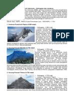 15 Daftar Gunung Tertinggi Di Indonesia