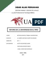 Historia de La Universidad en el Peru