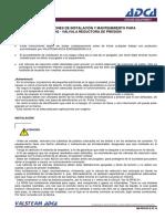 Instalación y Mantenimiento Valvula Reductora Rp45