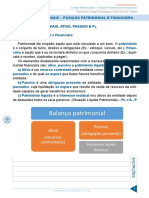 Contas Patrimoniais - Posição Patrimonial e Financeira