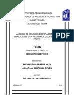 Análisis de ecuaciones para obtener velocidades con registros geofísicos de pozos.pdf