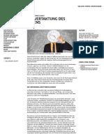 Deutsche Pünktlichkeit_ Die Vertaktung Des Lebens - Goethe-Institut