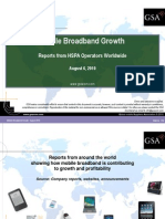 Mobile Broadband Growth - Reports from HSPA Operators Worldwide August 2010