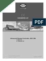 AGC 200 parameter list 4189340605 UK_2013.08.29