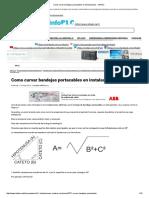 Como Curvar Bandejas Portacables en Instalaciones - InfoPLC
