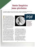 CONTE, Jaimir. Sexto Empírico e Ceticismo Pirrônico (artigo).pdf