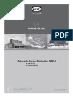 Lista de Alarmes e Parâmetros AGC4