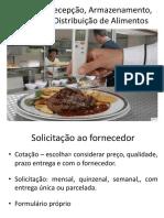 A 12- Recepção e Armazenamento Alimentos - Controle Estoque