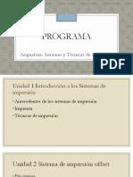 programa de sistemas y tecnicas