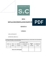 Instalacion Desinstalacion Equipo Perforacion