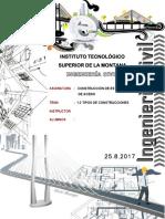 1.3 TIPOS DE CONSTRUCCIONES (DE ACERO)