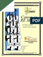 Canon en D Mayor - Caratula Score